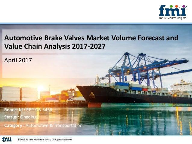 Automotive Brake Valves Market Volume Forecast and Value Chain Analysis 2017-2027 April 2017 ©2015 Future Market Insights,...