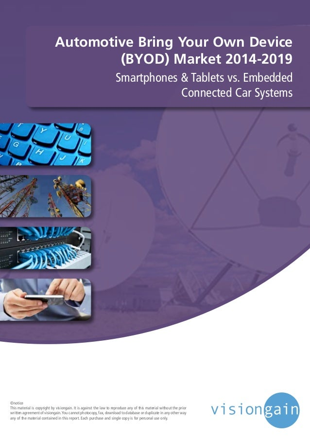 Automotive Bring Your Own Device (BYOD) Market 2014-2019 Smartphones & Tablets vs. Embedded Connected Car Systems ©notice ...