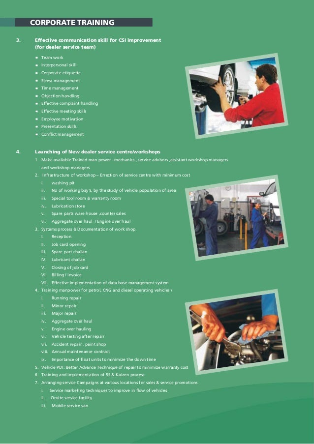 automotive training  u0026 consulting brochure