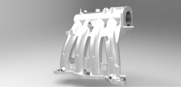 Automotive casting part in reverse engineering Slide 2