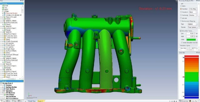 Automotive casting part in reverse engineering Slide 3