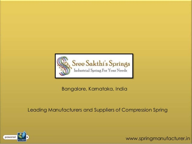 Bangalore, Karnataka, IndiaLeading Manufacturers and Suppliers of Compression Spring                                      ...