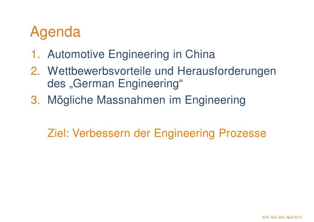 Automotive Engineering - Eine deutsche Kompetenz in China? Slide 2