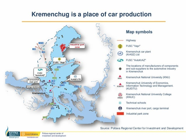 Automotive Industry Pdf - Kremenchuk map