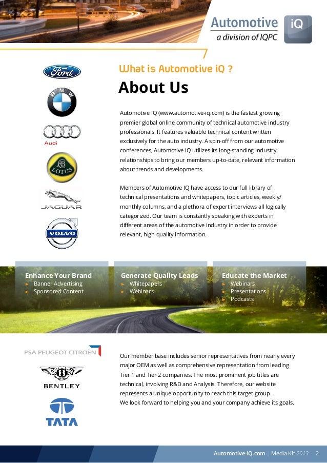 Automotive IQ (www.automotive-iq.com) Media Kit Slide 2
