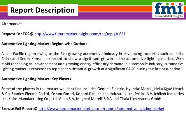 Automotive Lighting Market Volume Forecast And Value Chain