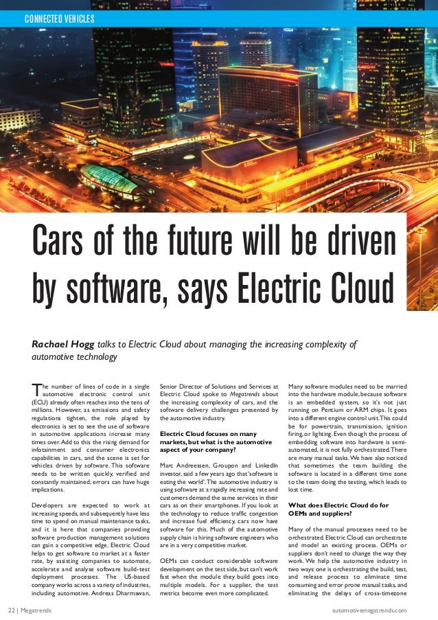 The number of lines of code in a single automotive electronic control unit (ECU) already often reaches into the tens of mi...