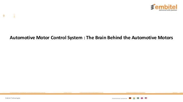 All About Motors : Automotive Motor Control System