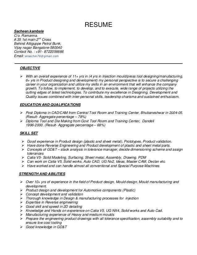 Automotive Resume Examples