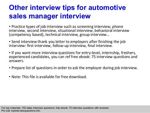 10   Car Sales Manager Job Description