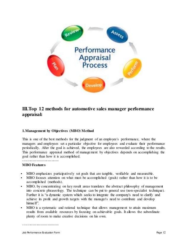 Automotive sales manager perfomance appraisal 2