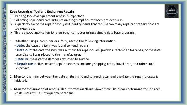 automotive service development program part 05 module 1
