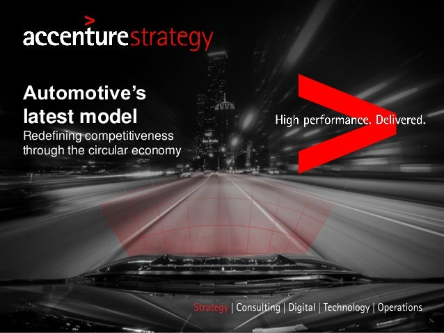 Automotive's latest model Redefining competitiveness through the circular economy