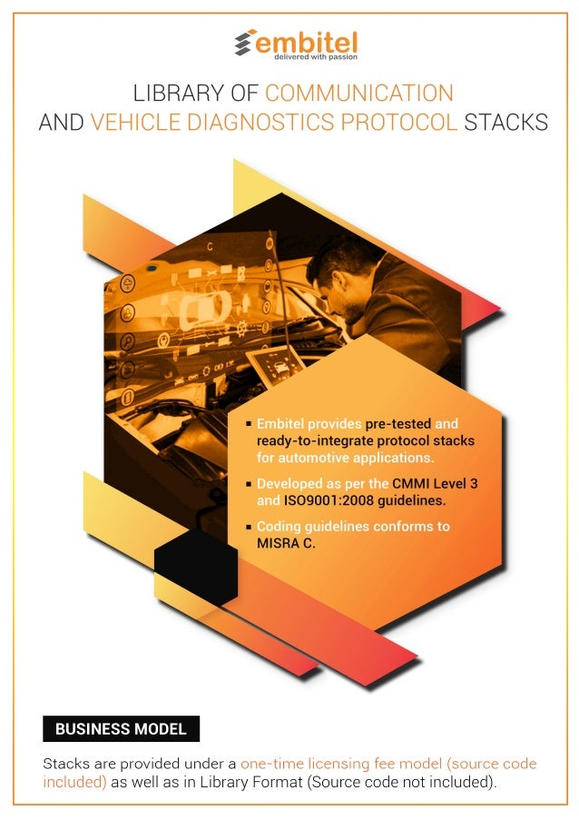 Library of Protocol Stacks for Automotive Vehicle Diagnostics