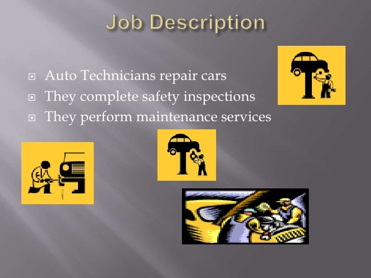 job description auto technicians