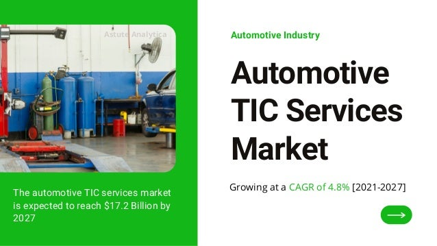 The automotive TIC services market is expected to reach $17.2 Billion by 2027 Automotive TIC Services Market Automotive In...