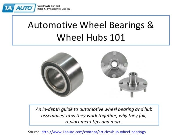 Automotive Wheel Bearings & Wheel Hubs 101 An in-depth guide to automotive wheel bearing and hub assemblies, how they work...