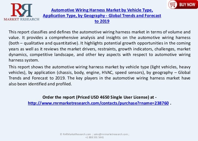 8 0  Cagr For Automotive Wiring Harness Market 2019