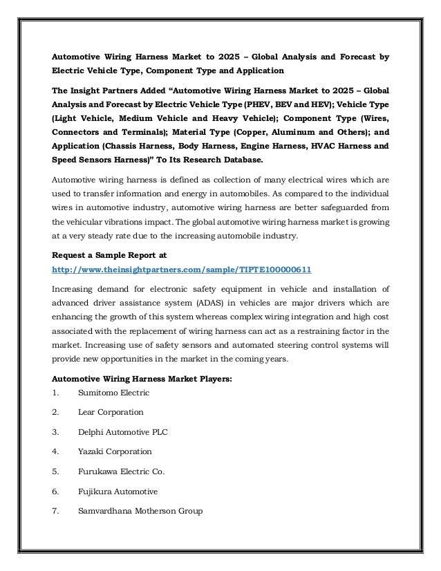 automotive wiring harness market to 2025 rh de slideshare net define wiring harness definition