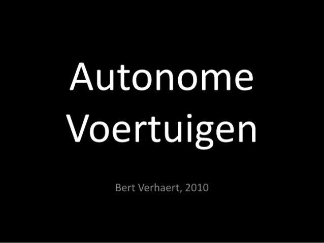 Autonome voertuigen