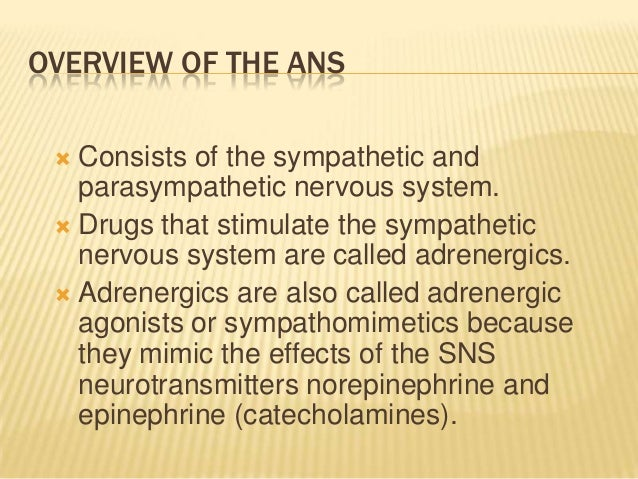 the general effects of massage on the autonomic nervous system The autonomic nervous system  general scheme of autonomic neurotransmitters  table-1 autonomic effects on various organs of the body.