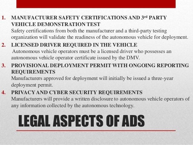Third Party Dmv >> Autonomous driving system (ads)