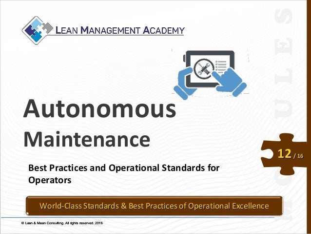© Lean & Mean Consulting. All rights reserved. 2015© Lean & Mean Consulting. All rights reserved. 2016 12/ 16 Autonomous M...