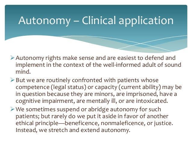 ensuring patient autonomy beneficence non malfeasance This paper is a discussion on ethical principles underlying leadership the situation showed how their autonomy in handling patients non-malfeasance.