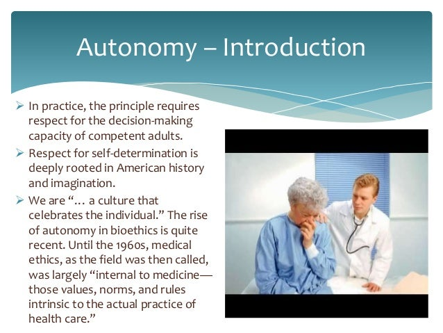 autonomy in health and social care