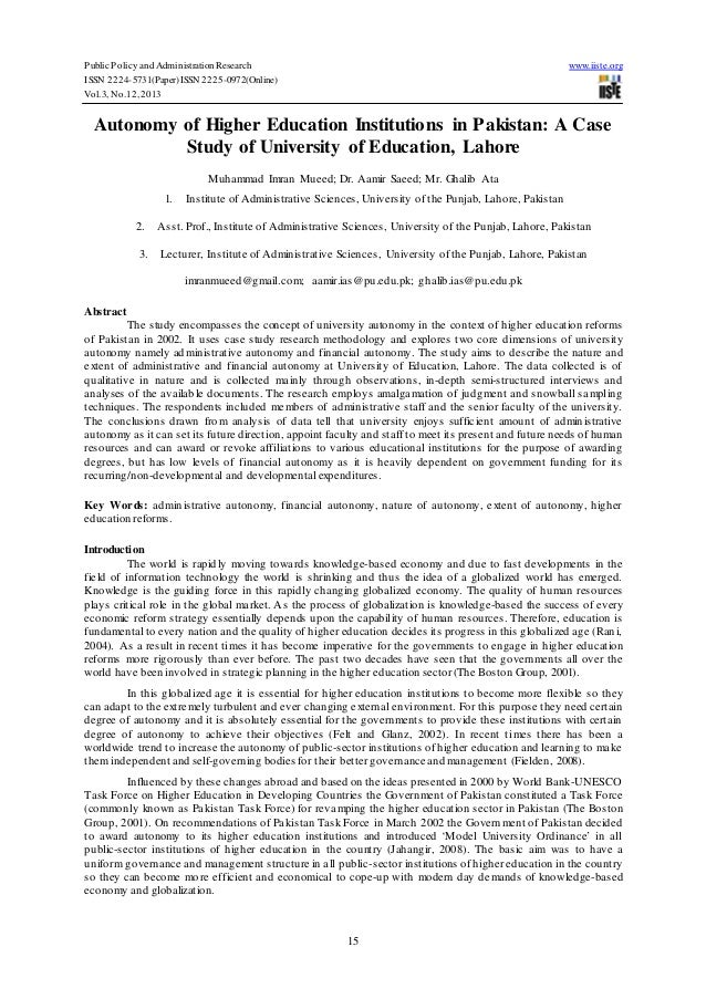 Public Policy and Administration Research ISSN 2224-5731(Paper) ISSN 2225-0972(Online) Vol.3, No.12, 2013  www.iiste.org  ...