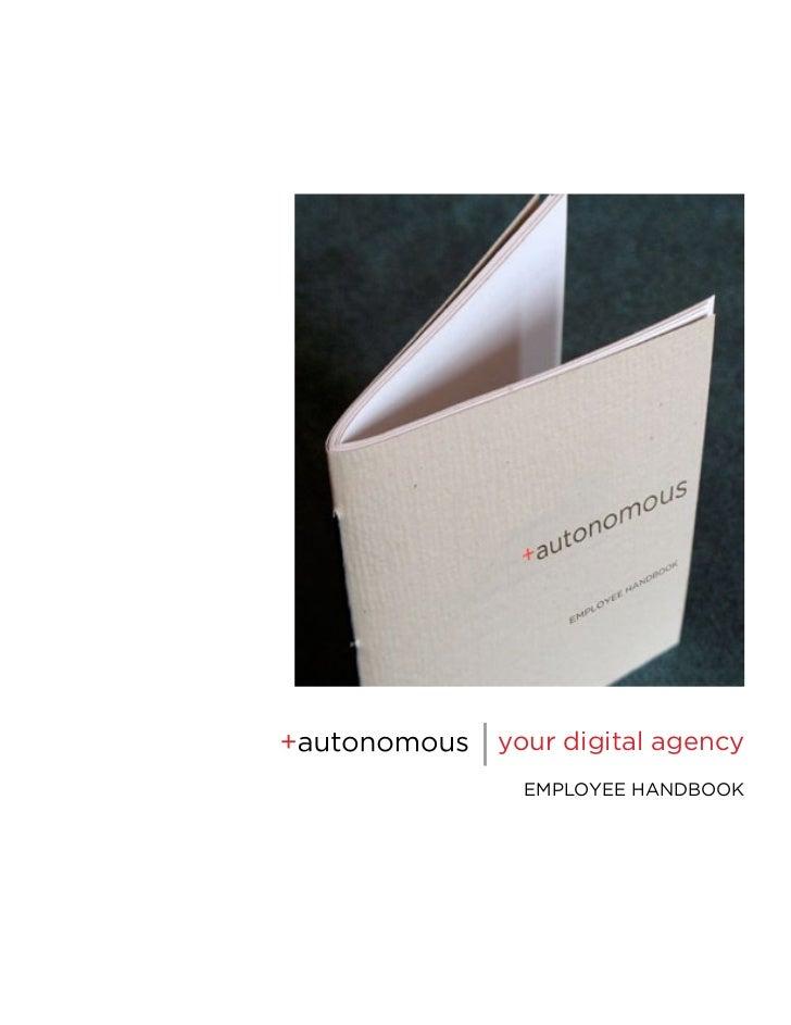 | your digital agency   EMPLOYEE HANDBOOK