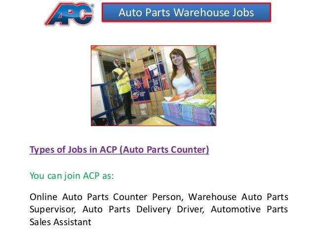 3 auto parts warehouse jobs