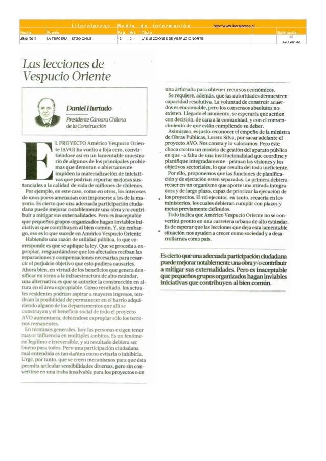 Litoralpress   Media       de       Información              http://www.litoralpress.clFecha        Fuente                ...