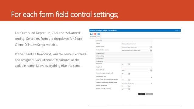 Auto pop Nintex form fields with a check box Slide 3