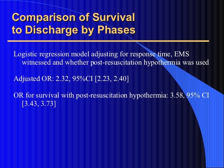 Comparison of Survival to Discharge by Phases <ul><li>Logistic regression model adjusting for response time, EMS witnessed...