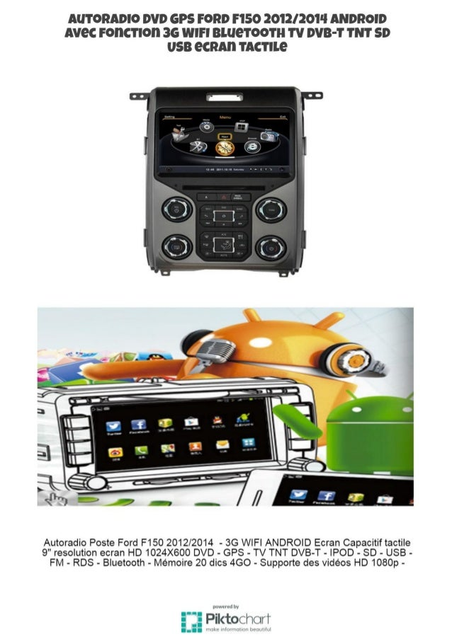 autoradio dvd gps ford f150 2012 2014 android avec fonction 3g wifi b. Black Bedroom Furniture Sets. Home Design Ideas