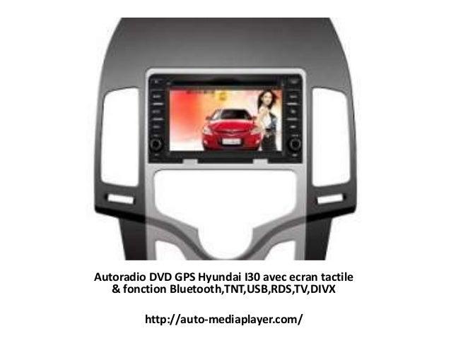 Autoradio DVD GPS Hyundai I30 avec ecran tactile & fonction Bluetooth,TNT,USB,RDS,TV,DIVX http://auto-mediaplayer.com/