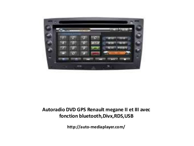 autoradio dvd gps renault megane ii et iii avec fonction bluetooth di. Black Bedroom Furniture Sets. Home Design Ideas