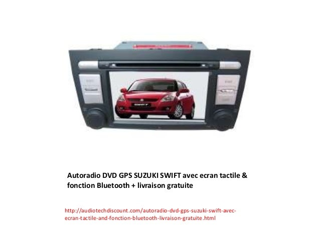 autoradio dvd gps suzuki swift avec ecran tactile. Black Bedroom Furniture Sets. Home Design Ideas