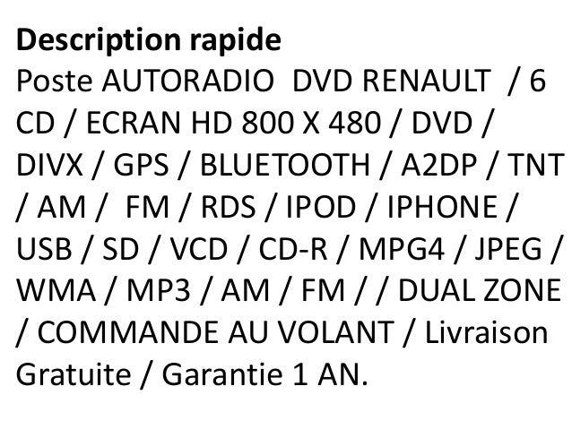 Autoradio gps renault megane ii iii avec écran tactile