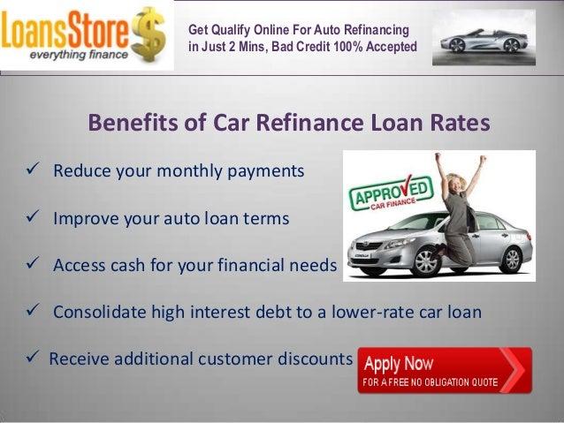 Bad Credit Auto Refinance >> Auto Refinance Loan Rates