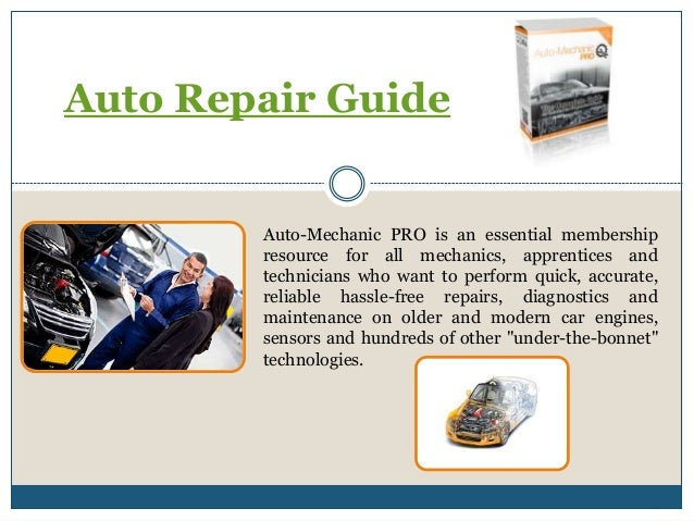 Auto Repair Guide Auto-Mechanic PRO is an essential membership resource for all mechanics, apprentices and technicians who...