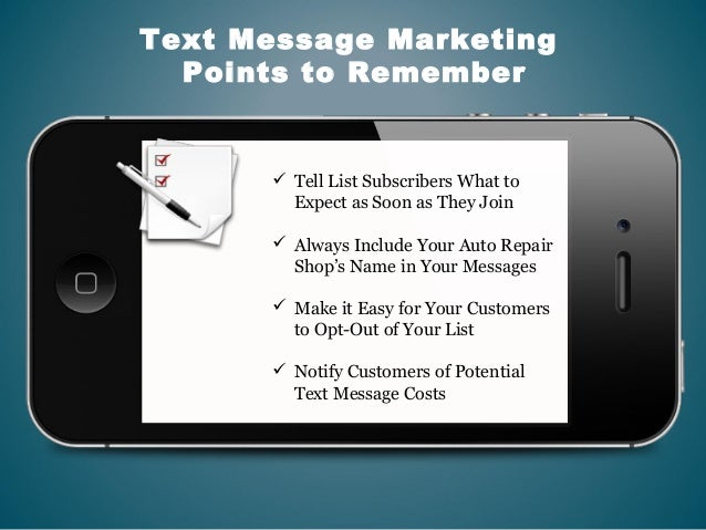 Text Message Marketing for Auto repair shops
