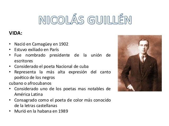 VIDA: • Nació en Camagüey en 1902 • Estuvo exiliado en París • Fue nombrado presidente de la unión de escritores • Conside...