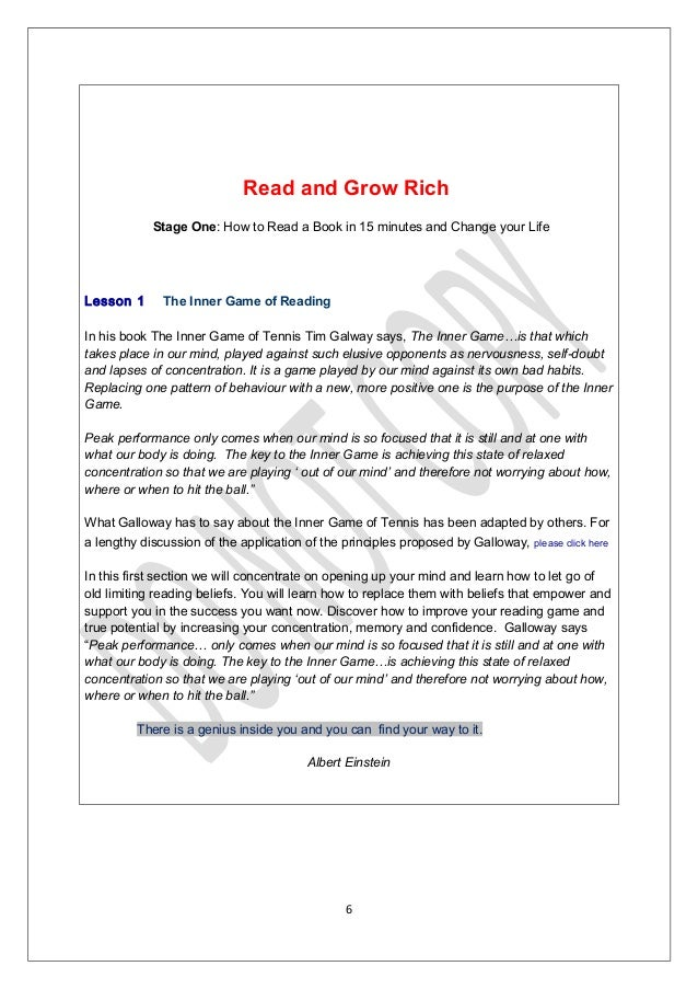Read and grow rich 1 your fast track to reading success i 5 6 fandeluxe Images