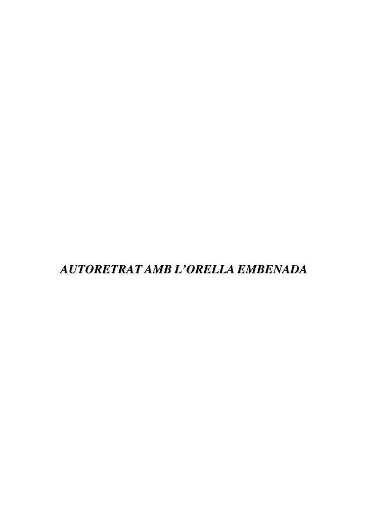 AUTORETRAT AMB L'ORELLA EMBENADA