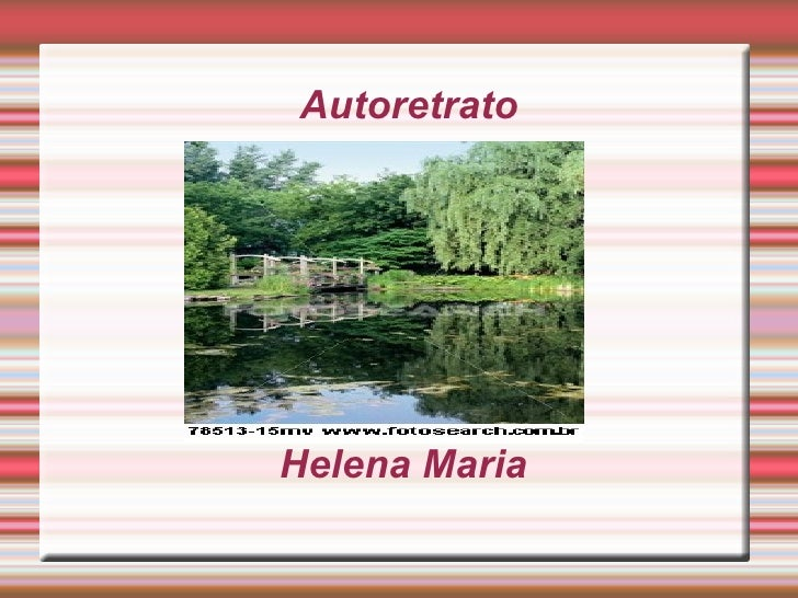Autoretrato  Helena Maria