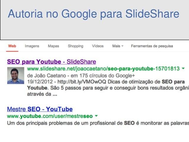 Autoria no Google para SlideShare