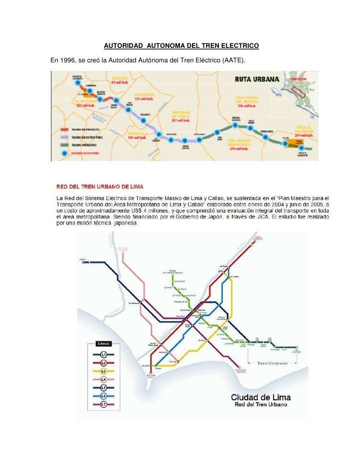 AUTORIDAD  AUTONOMA DEL TREN ELECTRICO<br />En 1996, se creó la Autoridad Autónoma del Tren Eléctrico (AATE). <br />DESCRI...