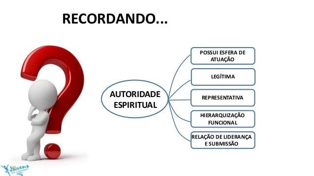 AUTORIDADE ESPIRITUAL POSSUI ESFERA DE ATUAÇÃO LEGÍTIMA REPRESENTATIVA HIERARQUIZAÇÃO FUNCIONAL RELAÇÃO DE LIDERANÇA E SUB...